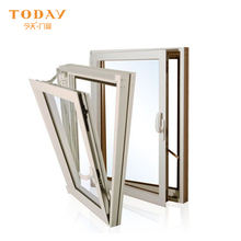 Low price Australia standard coated glass tilt and turn window in swing aluminum window
