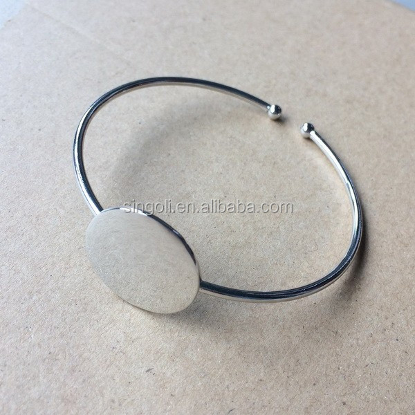 Monogram disc bracelet personal disc bangle bracelet for women and men