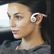 Wireless ear open bone conduction headphone with bluetooth phone talk