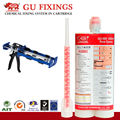 Double components chemical cartridge and caulking gun for construction tool