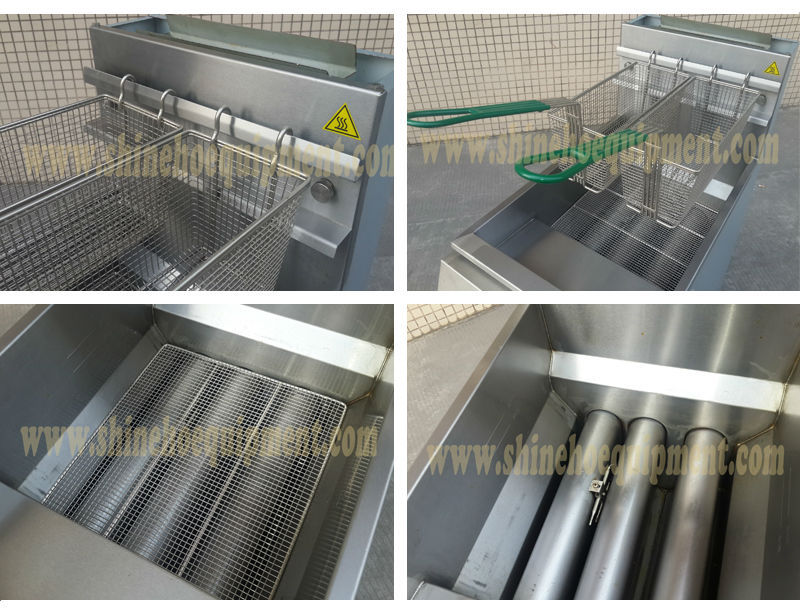 hot sale gas chicken grill machine/oil-water fryer/potato chips making machine