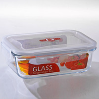 1000ML Food Use and Storage Boxes&Bins Type Rectangular airtight Glass food storage Container with silicone seal