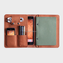 Large Capacity Leather Portfolio For iPad and document organizer