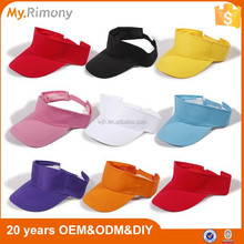 China hot plastic variety colors sun visor cap wholesale for sun visor cap