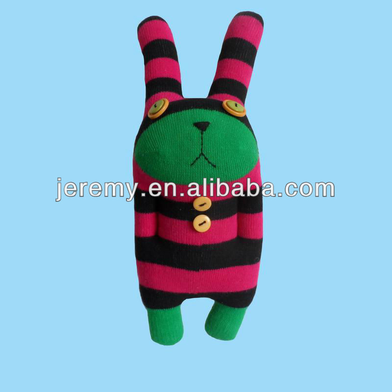 DIY cute bear <strong>rabbit</strong> stuffed handmade sock soft toys