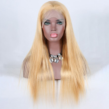 Premier Lace Wigs Chinese Virgin Human Hair 27# Straight Hair Full Lace Wigs With Baby Hair