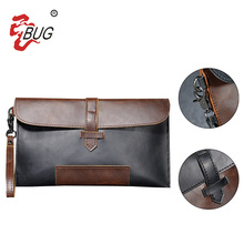 Black&Brown men PU clutch wrist bag, designer clutch bags