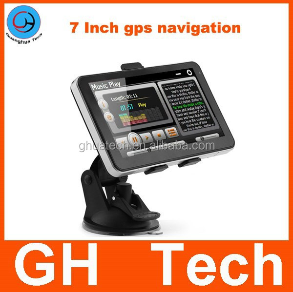 7 inch GPS navigation 128MB 800*480 car gps MTK 800MHZ CPU 3d Map without Avin for Russia Ukraine Belarus Kazakhstan USA Mexico