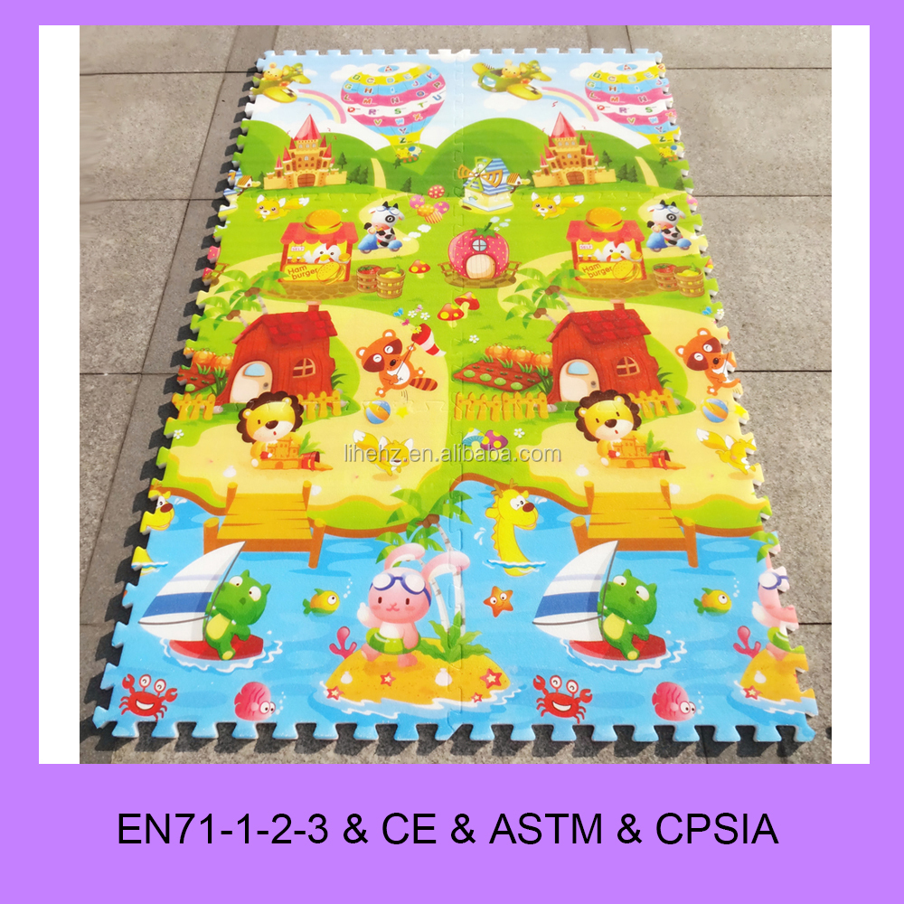 Soft foam colorful baby children kids play mat Alphabet Number puzzle learning mat jigsaw mat