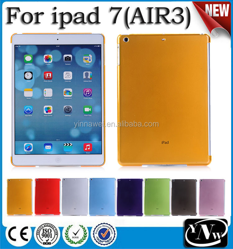 Best quality crystal PC hard cases for ipad air 3,for ipad 7 tablet cover case