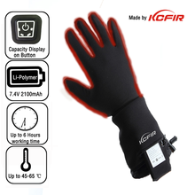 temperature adjustable battery heated thin softtexttile golf glove liner