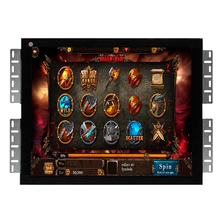 Metal cover rs232 touch screen 19 inch open frame game monitor