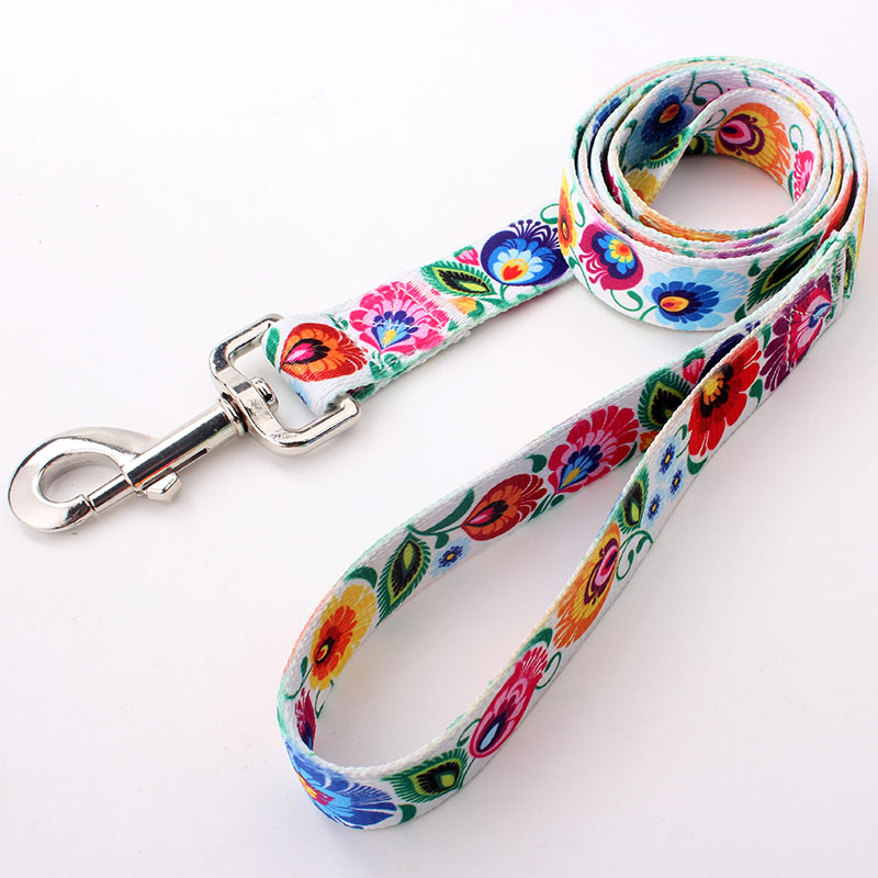 Decorative personalized polyester dog leash