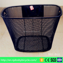 Handmade wire basket/balck hanging basket/modern wire bicycle basket wholesale