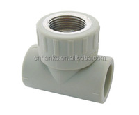 PPR Tee fittings with female brass insert,brass insert ppr pipe fittings