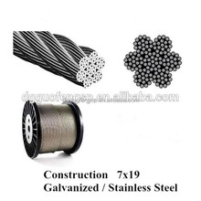 Guofeng OEM Galvanized / Stainless Steel Wire Rope Assembly Aircraft Cable with EXW Price