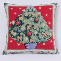 Merry Christmas Tree Home Decor Square Throw Pillow Case Cushion Cover