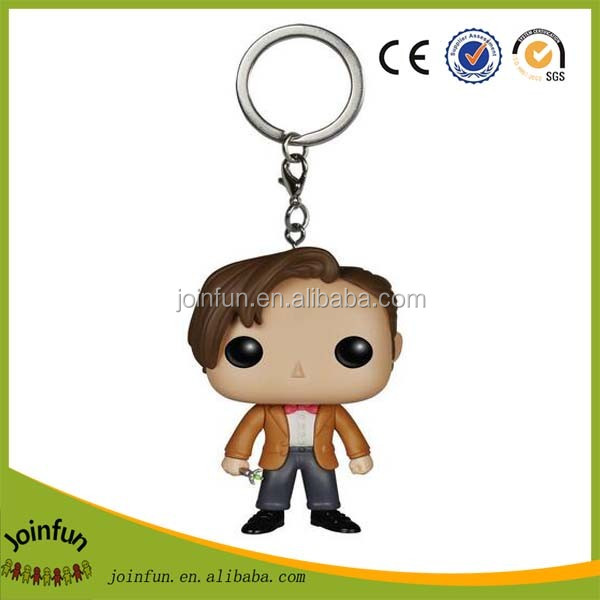 Soft toy cartoon plastic keychain,OEM 3D custom plastic keychain gift ,Make your own plastic cartoon keychains wholesale keyring