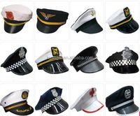 Party Carnival White Custom Navy Captain hat