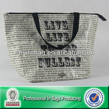 Outdoor English Alphabet PP Non-woven Cooler Bag For Food/Overall Is Shoulder Bag