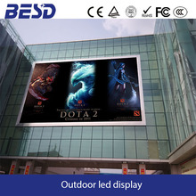 DOTA2 competitive game video live led screen P10 outdoor full color led panel