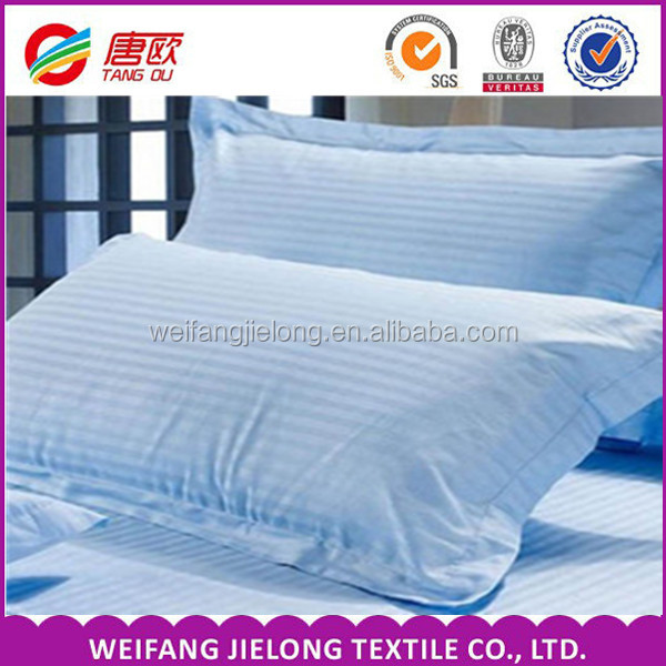 High quality hotel bedding satin 100 cotton stripe fabric 3cm 1cm statin stripe hotel bedsheet fabric 100% white cotton satin