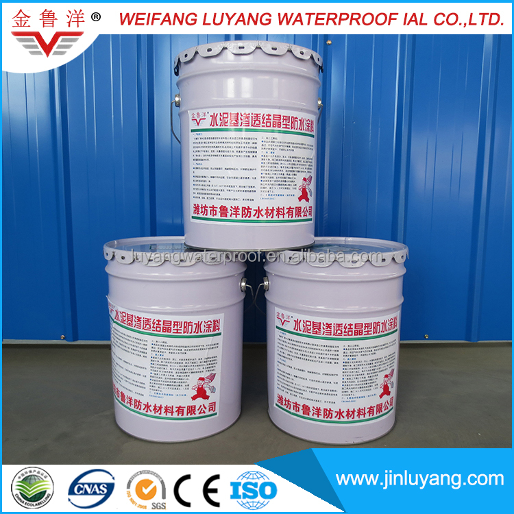 cementitious capillary crystalline Waterproofing coating for basement wall