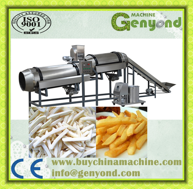 Excellent quality full automatic potato chips production line/fresh potato chips making machine/frozen french fries