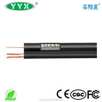 RG59 Siamese Combo Coaxial Cable for CCTV Black