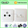 Special Design Tel or Tv Satellite Wall Socket Tv Crt Socket