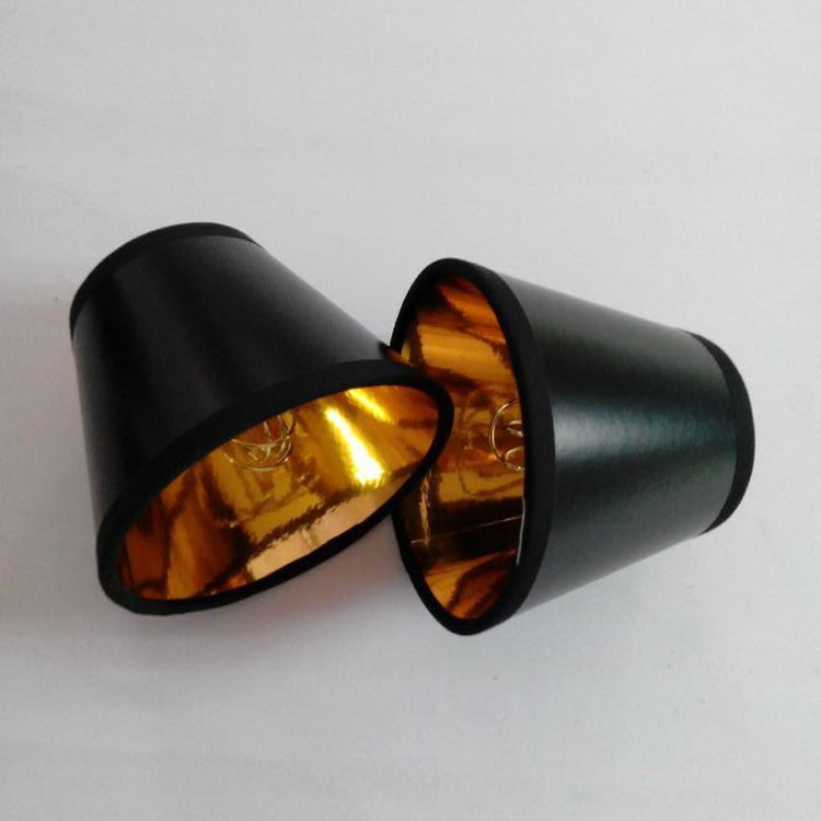 paper lamp shade black outsider gold insider