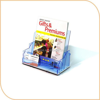 customized acrylic brochure holder with flat packing design, New for 2015