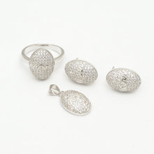 Wholesale oval shaped faceted sterling silver 925 cz pave jewelry wholesale jewelry in malaysia