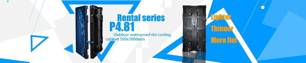 P4 outdoor rental Die casting cabinet led display