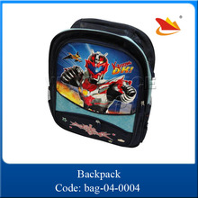 Cartoon cheap plastic printing school bags for kids