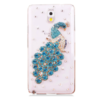 Alibaba Guangzhou Factory Smartphone Cover Peacock Diamond Hard Cell Phone Case For Samsung Galaxy Note 3