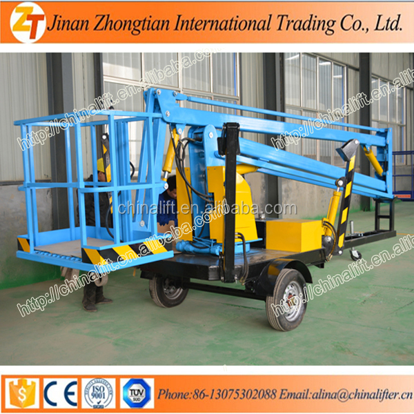 10m tower crane articulated boom lift for sale with CE SGS sky manlift table