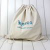 custom high quality cheap cotton drawstring bag for shopping