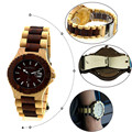 Fashional Waterproof Original Japan Quartz Wooden Watch Wholesale