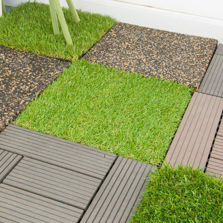Attractive and durable new design indoor soccer artificial grass tiles