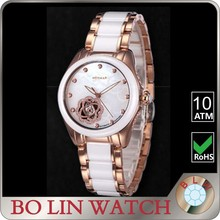 2016 ceramic band sapphire crystal watches ladies automatic