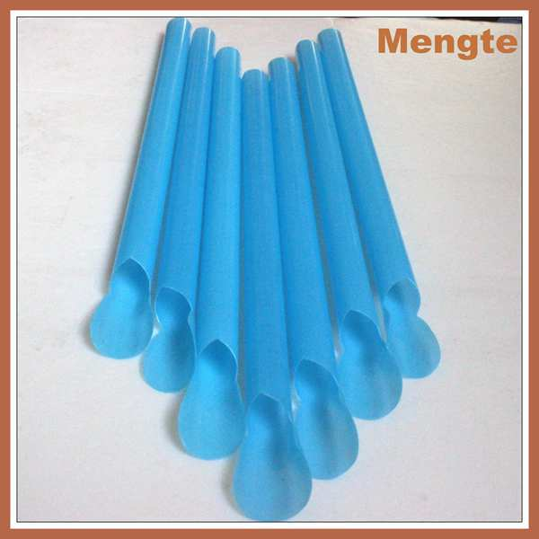 fancy pp disposable plastic spoon drinking straw