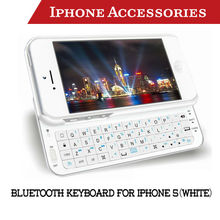 New Arrival White Bluetooth Keyboard for apple iphone 5 case accessories