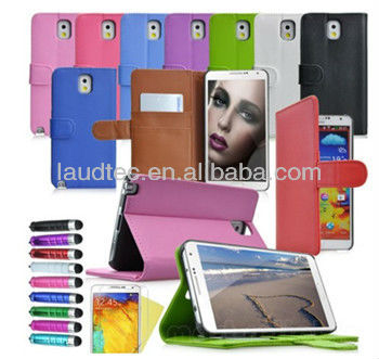 Stand Wallet Flip Fold Case Cover for Samsung Galaxy Note 3 III N9000 N9005 Hot
