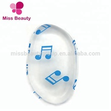 2018 New Arrivals Clear Leaf Shape Silicone Sponge with Musical Notes