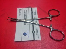 "Halsted Mosquito Forcep 5"" Curved Carbide Tip Inserted, Eye Instruments, Simrix"