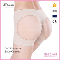 S-SHAPER Sexy Lace Transparent Panty Butt Lifter Boy Shorts S0251A5