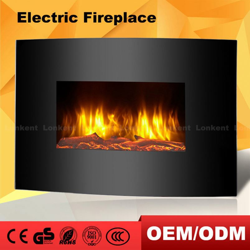 Protable Decor Flame Parts For Electric Fireplace Two Doors Heater