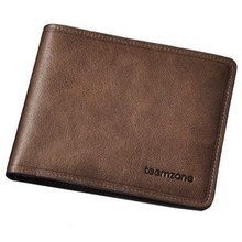 Fashion restrostyle name brand purse for office men,cow leather short men wallet