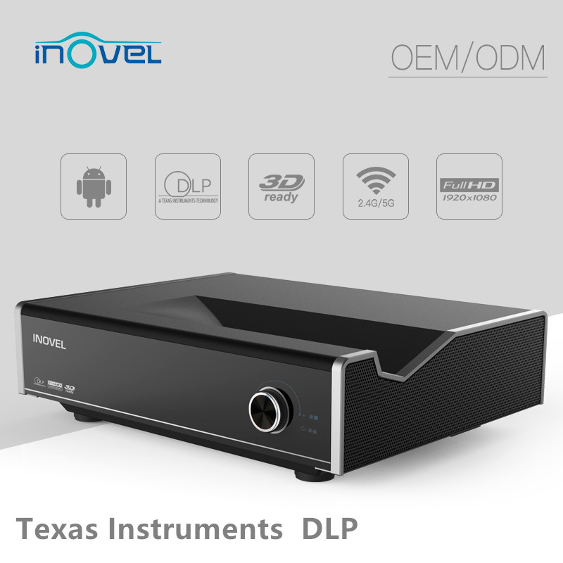 2017 new 3500 Lumens 1920x1080 resolution Laser large projector, DLP wifi 3D Projector